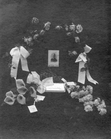 Funeral display for Caroline Maria Sexton