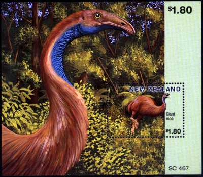 New Zealand Moa Souvenir Sheet
