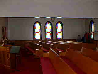 Interior of Methodist Episcopal Church in Elsie, Michigan