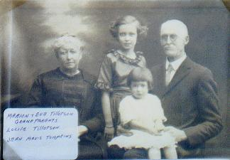 Eva and Marion Tillotson with two grandchildren