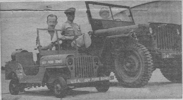 Francis James Tillotson's miniature jeep.